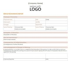 Employment Termination Letters by Employee Warning Letter Template Employee Warning Letter