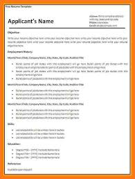 Job Resume Template Download Free by Cv Template South Africa Sow Template