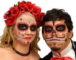 sugar skull day of the dead face tattoo kit 1