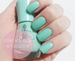 essence gel nail polish play with my mint review u0026 swatches