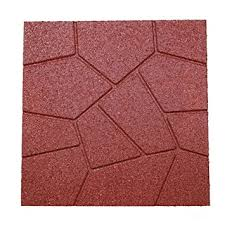 Rubber Patio Pavers Revtime 6 Pack Dual Side Garden Rubber Paver 16 X16