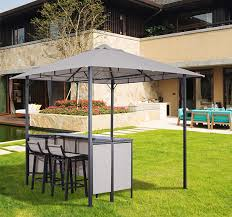 Outdoor Bar Table Set 3pc Outdoor Patio Bar Table Set Chairs W Sunshade Canopy Backyard