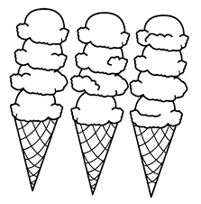 coloring page cone coloring pages getcoloringpages