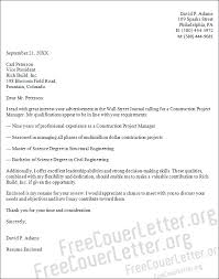 cover letter construction project manager 28 images