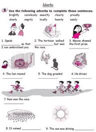 easy to read along explanation of adverbs also includes