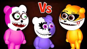 mega gummy bear halloween ghost makeup prank finger family rhyme