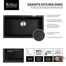 Kitchen Sink Black Granite by 31