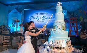 wedding cake kelapa gading rocky and devina the sea thematic wedding cake by