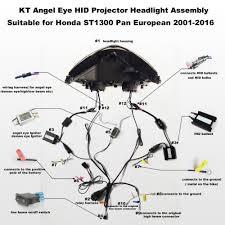 aliexpress com buy kt headlight for honda st1300 pan european