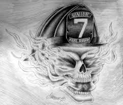 flaming skull fireman by hirashi on deviantart
