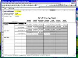 Excel Shift Schedule Template Excel Employee Shift Schedule Template Software 7 0 For Windows