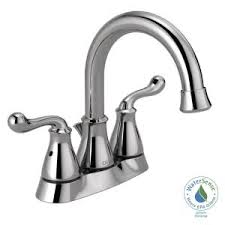 new chrome finish 2 handle delta windemere bathroom sink delta windemere 4 in centerset 2 handle bathroom faucet with metal