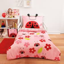 toddler bed bedding for girls amazon com skip hop 4 piece toddler bedding set ladybug