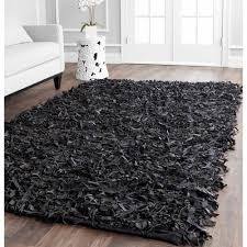 Safavieh Leather Shag Rug Safavieh Mariam Leather Shag Area Rug Or Runner Walmart