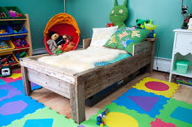 custom toddler bed reclaimed wood by greene pepper woodworking