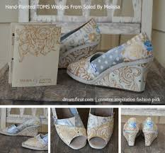 wedding shoes toms stand out at your wedding with painted toms shoes wedges
