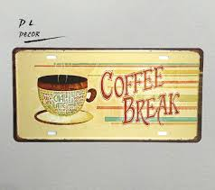 kitchen wall plaques dl coffee license plate crafts metal wall plaques kitchen