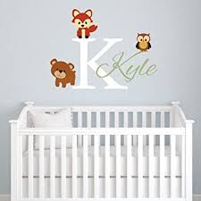 Personalized Wall Decals For Nursery Animals Forest Friends Personalized Name Wall