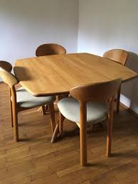 mid century dining table u0026 four chairs from juul kristensen for
