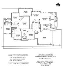 One Story Open Floor Plans by 100 5 Bedroom Floor Plans 1 Story 5 Bedroom House Plans 1