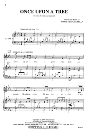 once upon a tree satb by pepper choplin j w pepper sheet