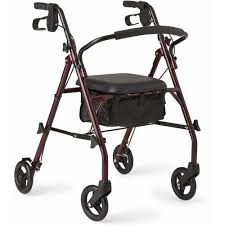 senior walkers with seat drive four wheel walker rollator with fold up removable
