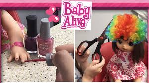 baby alive nail and hair salon painting baby alive nails youtube