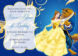 party invitations astonishing beauty and the beast party