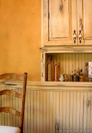Crackle Paint Kitchen Cabinets Country Kitchen Cabinets With An Antique White Crackle Finish