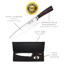 different types of kitchen knives and their uses amazon com kutt chef knife razor sharp and rust free