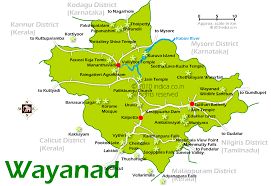 South India Map by Wayanad City Map And Tourist Travel Destination Maps