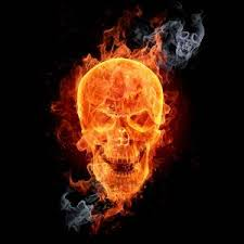 flaming skull other designs available to our ebay customers