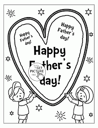 happy father u0027s day cute card coloring page for kids holidays