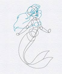 draw ariel mermaid doodleberry patch art