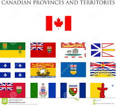 Map Canada Provinces by Canadian Provinces Flags Royalty Free Stock Photos Image 6159718