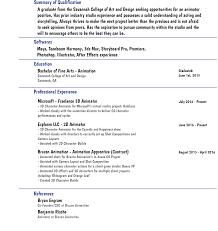 animated resume resume or cv