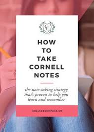 cornell notes poster cornell notes note and posters