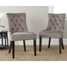 safavieh en vogue dining abby mushroom taupe dining chairs set of