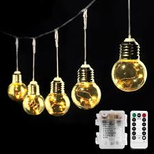 Bistro Lights Wholesale Battery Powered Led Globe String Lights Warm White Remote Control