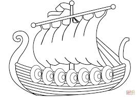 drakkar ship of vikings coloring page free printable coloring