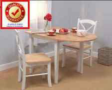 White Drop Leaf Table And Chairs Wooden Breakfast Nook Dining Furniture Sets Ebay