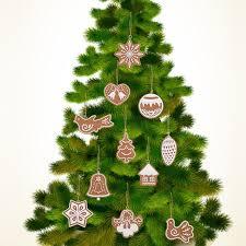 11 pcs animal snowflake biscuits hanging tree