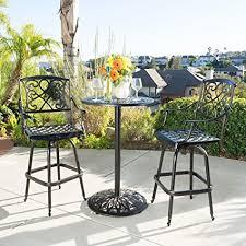 Copper Patio Table Outdoor 3pc Copper Cast Aluminum Bistro Set