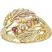 gold mothers ring black gold s ring 3 stones g926 jewelry