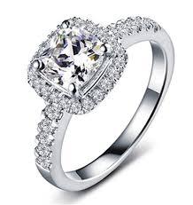 aliexpress buy 2ct brilliant simulate diamond men carat halo style cushion cut brilliant vintage sona simulate diamond