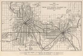 Twin Cities Map Tracks Of The Past Getting Around Minneapolis