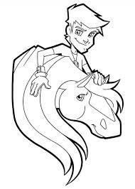 taggert love horse jimber horseland coloring