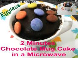 quick chocolate mug cake in microwave eggless chocolate cake in