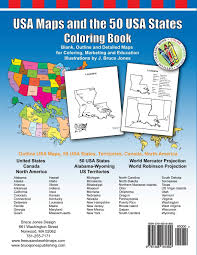 Blank Map Of Usa States by Amazon Com Usa Maps And The 50 Usa States Coloring Book Includes