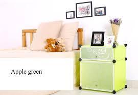 bedroom furniture diy cubes 2 tier modern plastic nightstand light